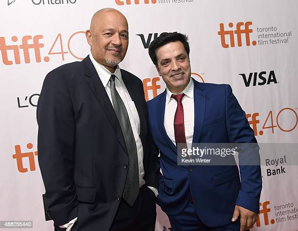 Actor Clark Johnson and actor Fazal Hakimi attend the Hyena Road premiere during the 2015 Toronto International Film Festival at Roy Thomson Hall on...