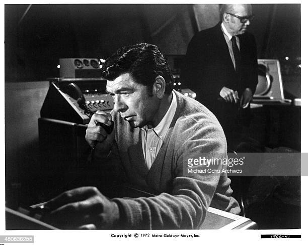 Actor Claude Akins in a scene from the movie Skyjacked circa 1972