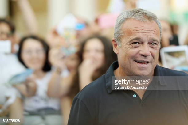 Actor Claudio Amendola attends Giffoni Film Festival 2017 blue carpet on July 18 2017 in Giffoni Valle Piana Italy