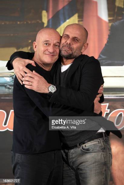 Actor Claudio Bisio and director Riccardo Milani attend 'Benvenuto Presidente' photocall at Cinema Adriano on March 13 2013 in Rome Italy