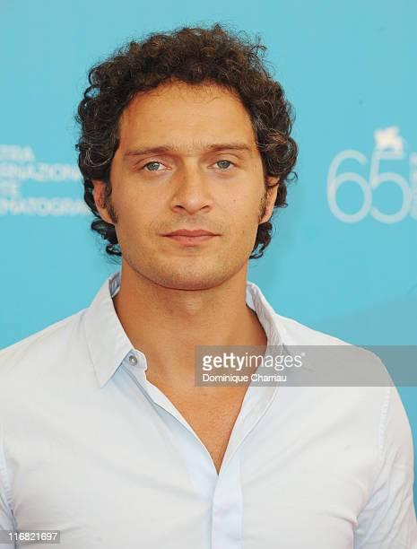 Actor Claudio Santamaria attends the Birdwatchers La Terra Degli Uomini Rossi photocall at the Piazzale del Casino during the 65th Venice Film...