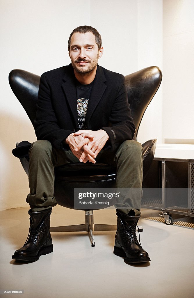 Actor Claudio Santamaria is photographed for Self Assignment on September 15, 2011 in Rome, Italy.