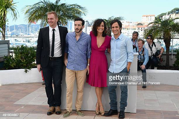 Actor Claudio Tolcachir director Pablo Fendrik actress Alice Braga and actor Gael Garcia Bernal attend the 'El Ardor' photocall at the 67th Annual...