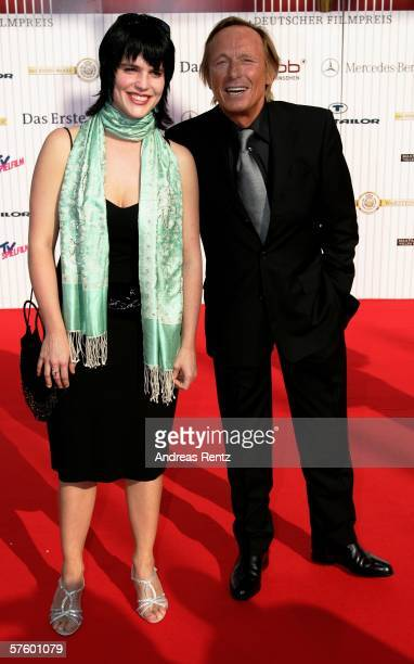 Actor Claus Theo Gaertner and Sarah Wuergler attend the German Film Awards at the Palais am Funkturm May 12 2006 in Berlin Germany