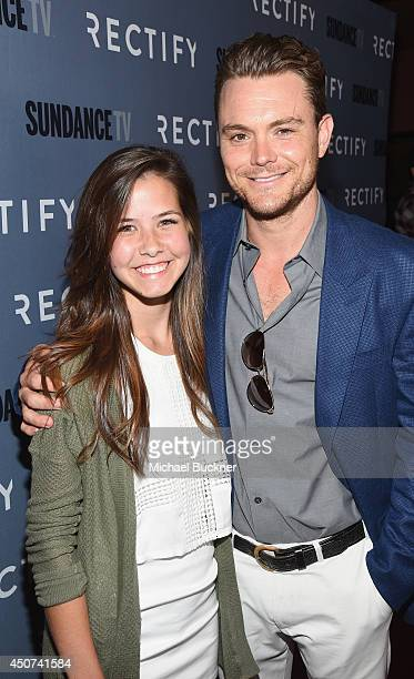 Actor Clayne Crawford and daughter Abby arrives at the premiere of SundanceTV's 'Rectify' Season Two at Sundance Sunset Cinema on June 16 2014 in Los...