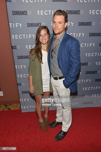 Actor Clayne Crawford and daughter attend Sundance TV's Season 2 premiere of 'RECTIFY' at Sundance Sunset Cinema on June 16 2014 in Los Angeles...