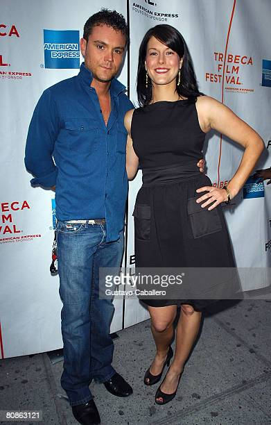Actor Clayne Crawford and director Abigail Carpenterattends the premiere of 'Identity Crisis' during the 2008 Tribeca Film Festival on April 25 2008...