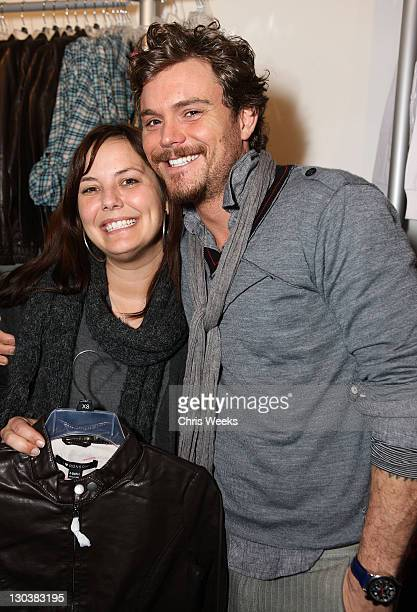 Actor Clayne Crawford and Guest at Fred Segul Fun at Village at the Yard on January 23 2010 in Park City Utah