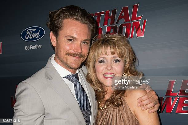 Actor Clayne Crawford and Lennie Crawford attend the premiere of Fox Network's 'Lethal Weapon' at NeueHouse Hollywood on September 12 2016 in Los...
