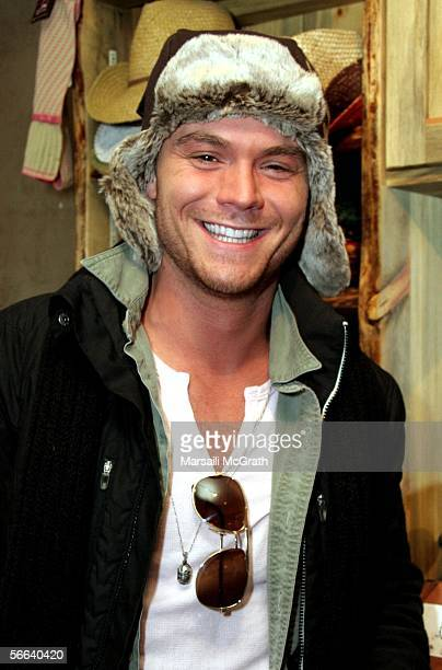 Actor Clayne Crawford is seen at the Gibson Guitar Lounge on Main Street on January 21 2006 in Park City Utah