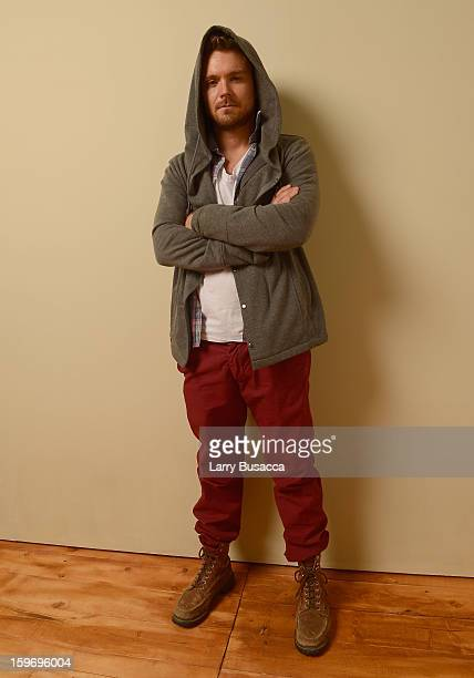 Actor Clayne Crawford poses for a portrait during the 2013 Sundance Film Festival at the Getty Images Portrait Studio at Village at the Lift on...