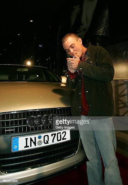 Actor Clayne Crawford poses in front of Audi Q7 during AFI Fest presented by Audi opening night at the ArcLight Theatre November 3 2005 in Hollywood...