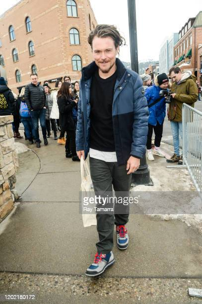 Actor Clayne Crawford walks on Main Street on January 26 2020 in Park City Utah