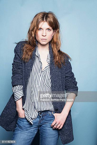 Actor Clemence Poesy is photographed for Paris Match on February 3 2016 in Paris France