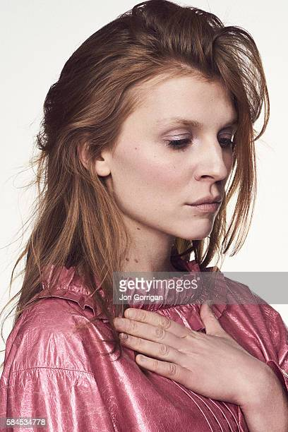 Actor Clemence Poesy is photographed for the Telegraph on March 5 2016 in London England