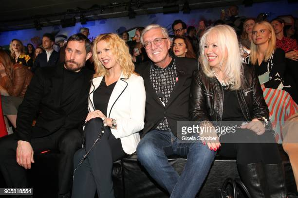 Actor Clemens Schick Actress Veronica Ferres and Founder and CEO of Marc Cain Helmut Schlotterer and his wife Ute Schlotterer during the Marc Cain...