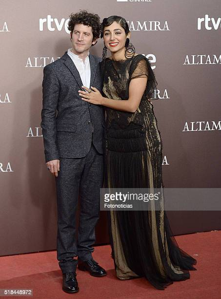 Actor Clement Sibony and actress Golshifteh Farahani attend the 'Altamira' premiere at Callao Cinema on March 31 2016 in Madrid Spain