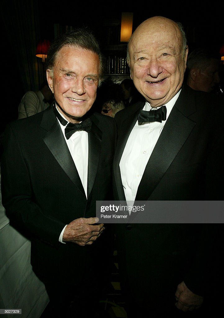 Actor Cliff Robertson and former New York City Mayor Ed Koch attend the AMPAS Official Oscar Night Celebration at Le Cirque February 29, 2004 in New York City.