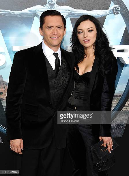 Actor Clifton Collins Jr and Francesca Eastwood attend the premiere of 'Westworld' at TCL Chinese Theatre on September 28 2016 in Hollywood California