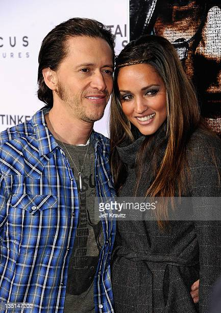 Actor Clifton Collins Jr and Megan Ozurovich arrive at the Los Angeles premiere of Tinker Taylor Soldier Spy at ArcLight Cinemas Cinerama Dome on...