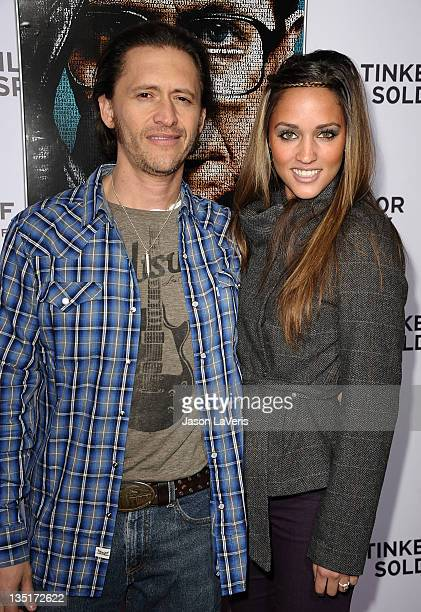 Actor Clifton Collins Jr and Megan Ozurovich attend the premiere of Tinker Tailor Soldier Spy at ArcLight Cinemas Cinerama Dome on December 6 2011 in...