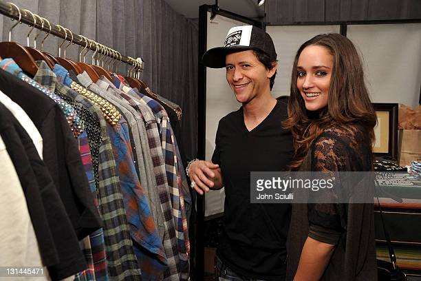 Actor Clifton Collins Jr and Megan Ozurovich attends the Access Hollywood Stuff You Must Lounge produced by On 3 Productions at the Sofitel Hotel on...