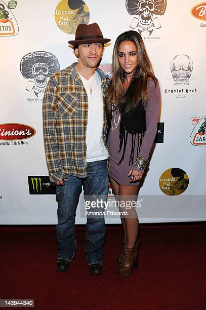 Actor Clifton Collins Jr and model Megan Ozurovich arrive at the 8th Annual Cinco de Mayo Benefit With Charity Celebrity Poker Tournament at Velvet...