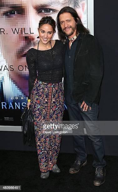 Actor Clifton Collins Jr and wife Megan Ozurovich attend the premiere of Warner Bros Pictures and Alcon Entertainment's Transcendence at the Regency...