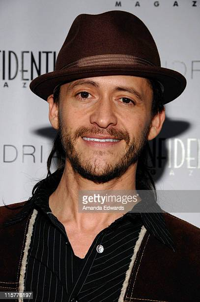 Actor Clifton Collins Jr. Arrives at the Los Angeles Confidential Magazine Pre-Golden Globes Event at Skybar at Mondrian on January 10, 2009 in Los...