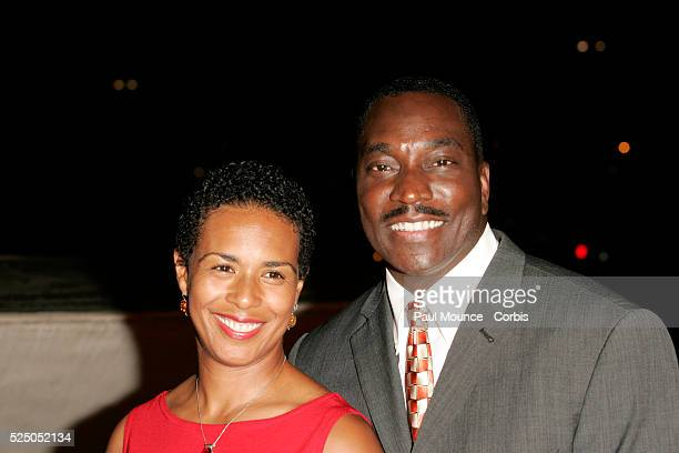 Actor Clifton Powell and wife arrives at the tribute concert for the late legendary Ray Charles Genius A Night for Ray Charles held at the Staples...