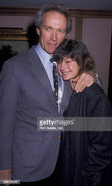 Actor Clint Eastwood and actress Genevieve Bujold attend Los Angeles Film Critic's Cirlce Awards on January 24 1989 at the Bel Age Hotel in Beverly...