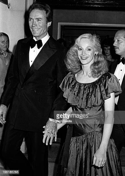 Actor Clint Eastwood and Sondra Locke attend Firefox on June 14 1982 at at Cinema I in New York City