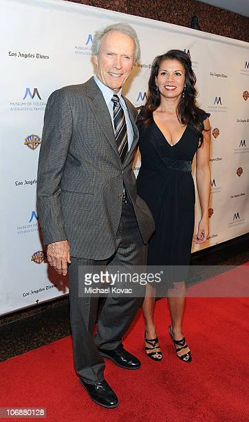 Actor Clint Eastwood and wife Dina Ruiz arrives at the Inaugural Museum Of Tolerance International Film Festival Gala honoring Clint Eastwood at...