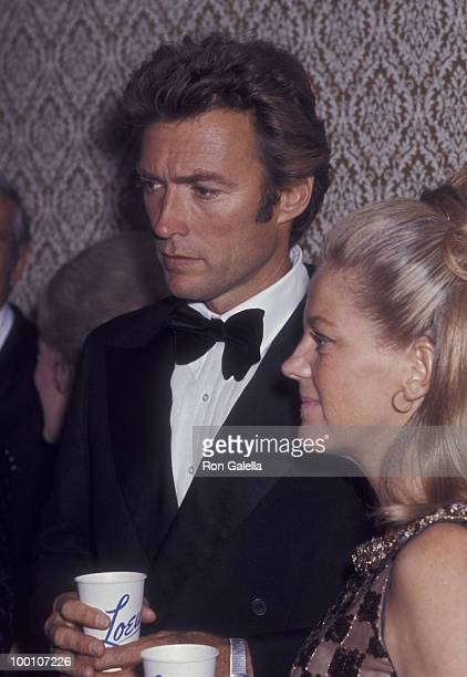 "Actor Clint Eastwood and wife Maggie Johnson attend the premiere party for ""Paint Your Wagon"" on October 15, 1969 at the Sheraton Center in New York..."