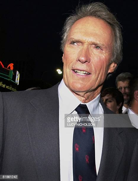 US actor Clint Eastwood arrives at the premiere of his new film Space Cowboys in Los Angeles 01 August 2000 Eastwood directed and produced the film...