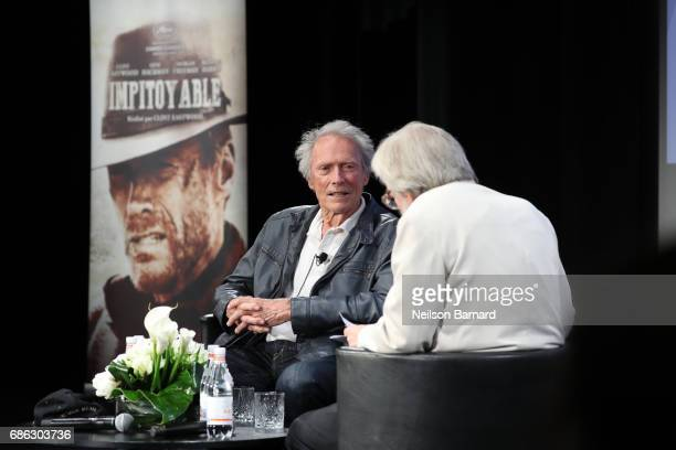 Actor Clint Eastwood attends 'The Clint Eastwood Cinema Lesson' during the 70th annual Cannes Film Festival at Palais des Festivals on May 21 2017 in...