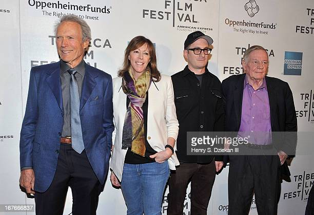Actor Clint Eastwood Jane Rosenthal Darren Aronofsky and Richard Schickel attend the Tribeca Talks Director's Series during the 2013 Tribeca Film...