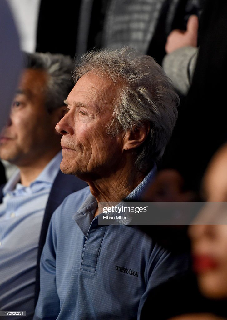 Actor Clint Eastwood sits ringside at 'Mayweather VS Pacquiao' presented by SHOWTIME PPV And HBO PPV at MGM Grand Garden Arena on May 2, 2015 in Las Vegas, Nevada.