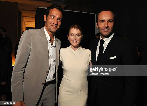 """Actor Clive Owen, Actress Julianne Moore and Director Tom Ford attend the """"A Single Man"""" After Party held at Jamie Kennedy Center at the Gardiner..."""