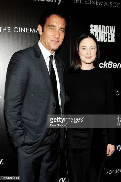 Actor Clive Owen and actress Andrea Riseborough attends The Cinema Society Blackberry screening of Magnolia Pictures' 'Shadow Dancer' at Sunshine...