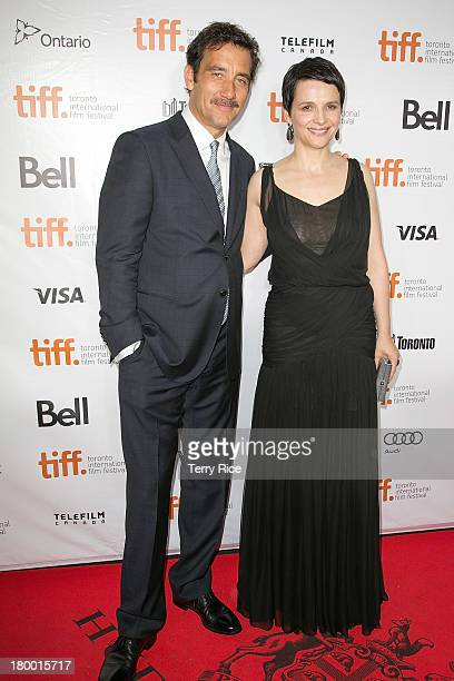 Actor Clive Owen and actress Juliette Binoche attend the 'Words And Pictures' premiere during the 2013 Toronto International Film Festival at Roy...