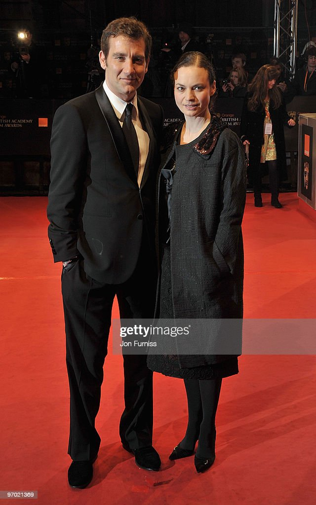 Actor Clive Owen and Sarah-Jane Fenton attend the Orange British Academy Film Awards 2010 at the Royal Opera House on February 21, 2010 in London, England.