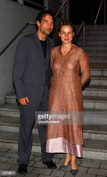 Actor Clive Owen and wife Sarah Jane Fenton attend the afterparty in The Vaults IFSC of Irish Premiere of 'Pirates of the Caribbean' August 5 2003...