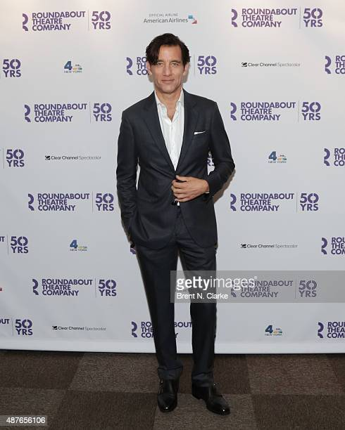 Actor Clive Owen arrives for Roundabout's 50th anniversary season party held at the Roundabout Theatre Company on September 10 2015 in New York City