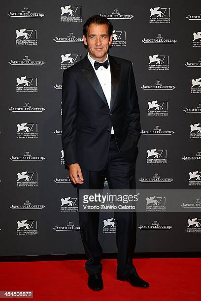 Actor Clive Owen arrives wearing a Jaeger-LeCoultre watch for a gala dinner hosted by Jaeger-LeCoultre at Scuola Grande di San Rocco during the 71st...