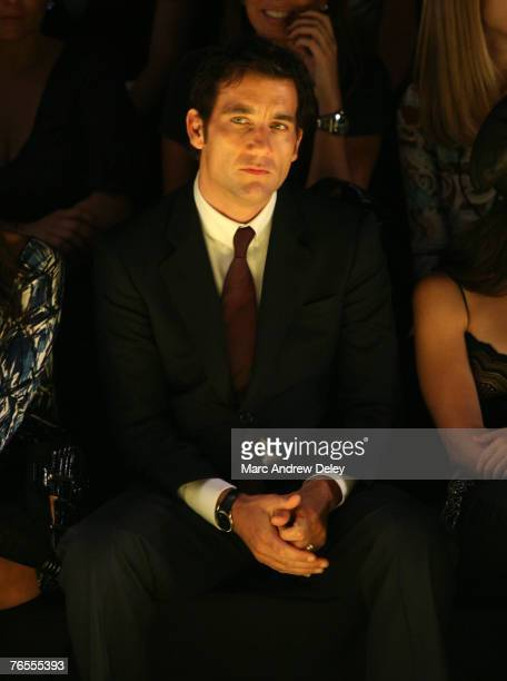 Actor Clive Owen at Miss Sixty Spring 2008 during Mercedes-Benz Fashion Week at the Tent, Bryant Park on September 5, 2007 in New York City.