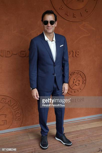 Actor Clive Owen attend the 2018 French Open Day Fifteen at Roland Garros on June 10 2018 in Paris France