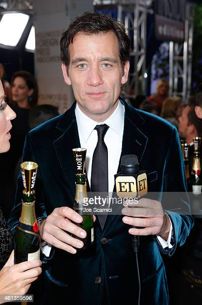 Actor Clive Owen attends the 72nd Annual Golden Globe Awards at The Beverly Hilton Hotel on January 11 2015 in Beverly Hills California