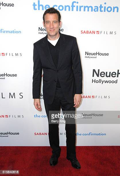 Actor Clive Owen attends the Premiere of Saban Films' 'The Confirmation' at NeueHouse Hollywood on March 15 2016 in Los Angeles California