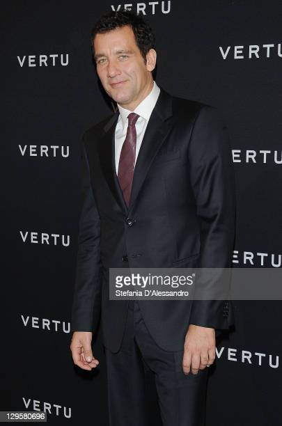 Actor Clive Owen attends the Vertu Global Launch Of The 'Constellation' at Palazzo Serbelloni on October 18, 2011 in Milan, Italy